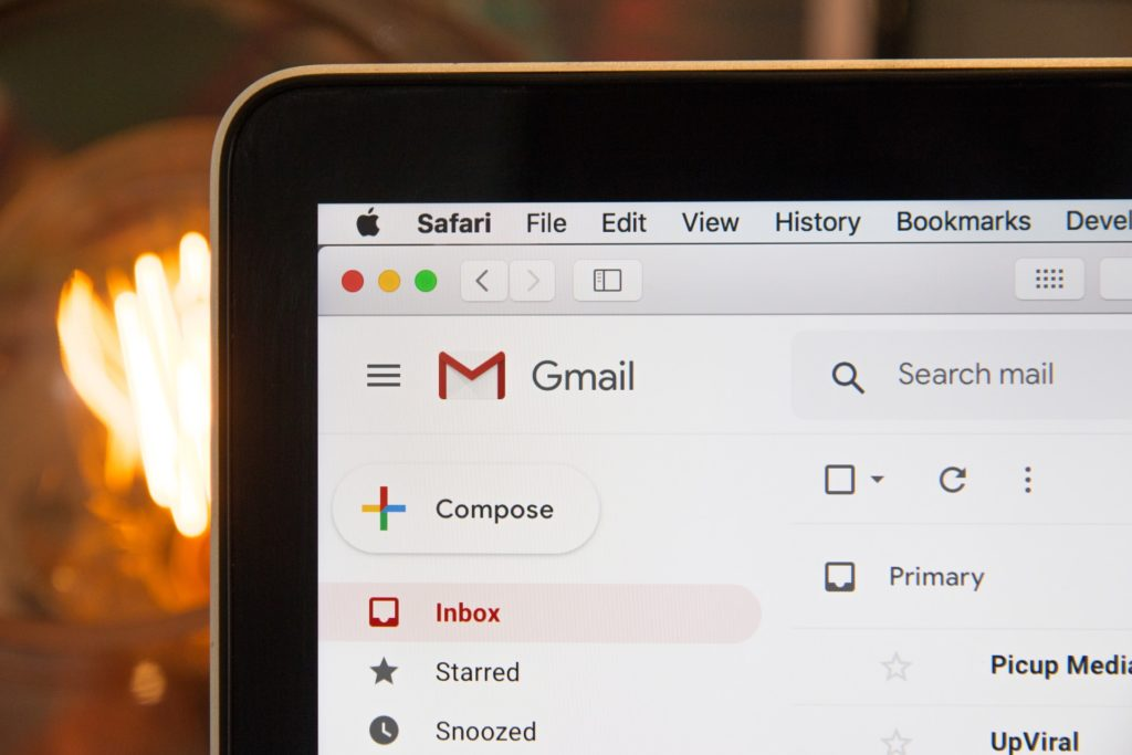 email marketing gmail laptop